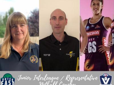 Junior Interleague _ Representative Netball Coaches.