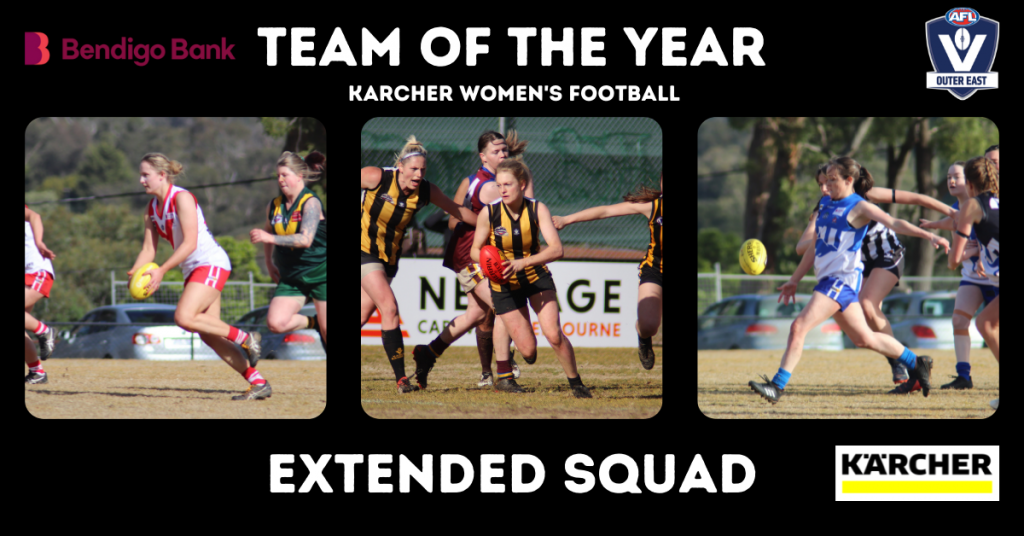 Karcher Women's Team of the Year – Extended Squads